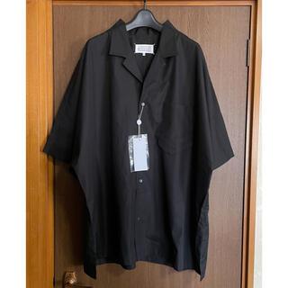 Maison Martin Margiela - 黒40新品 メゾンマルジェラ アウトライン オーバーサイズ 半袖 シャツ メンズ