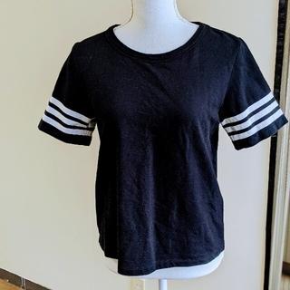 ジェーンマープル(JaneMarple)のジェーンマープル マリンスタイルTシャツ ブラック(Tシャツ(半袖/袖なし))