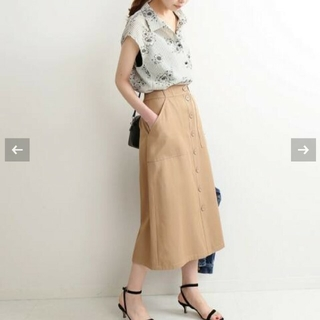 イエナ(IENA)の未使用 IENA ツイルボタンダウンスカート(ロングスカート)
