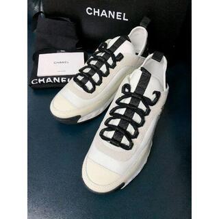 CHANEL - 新品 人気 シャネルスニーカー 38アイポリー