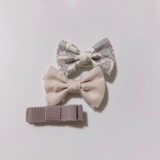 プティマイン(petit main)の771.夏のウキウキセット♡ハンドメイド、ヘアクリップ、リバティ生地使用(ファッション雑貨)