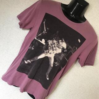 ヒステリックグラマー(HYSTERIC GLAMOUR)のヒステリックグラマー KURT COBAIN ビッグロゴ コラボ Tシャツ S(Tシャツ/カットソー(半袖/袖なし))