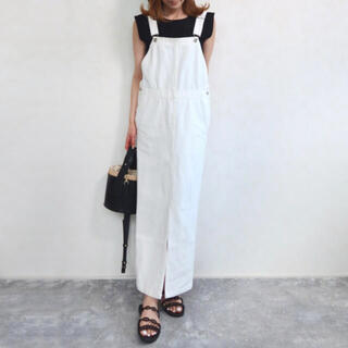 Ron Herman - 【新品】dolce.ジャンパースカート ホワイト