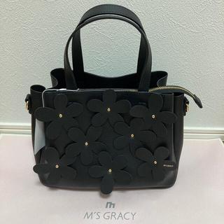M'S GRACY - 新品 エムズグレイシー 今期フラワーバッグ 黒