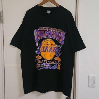 NBA レイカーズ Tシャツ 古着 両面デカプリント ビッグシルエット バスケ(Tシャツ/カットソー(半袖/袖なし))