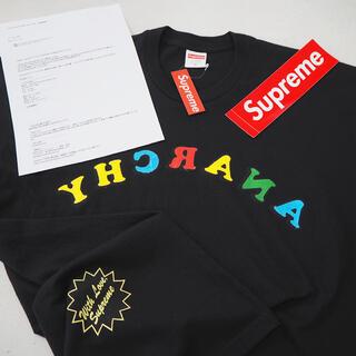 Supreme - XL 新品 シュプリーム 反転 アナーキー Tシャツ ブラック メンズ サイズ