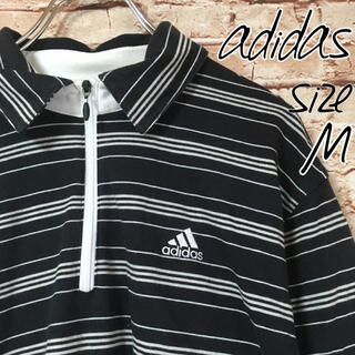 アディダス(adidas)のアディダス adidas クライマライト メンズ ポロシャツ 長袖 ボーダー(ポロシャツ)