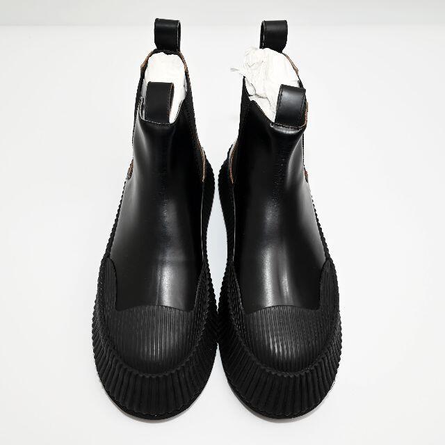 Jil Sander(ジルサンダー)の新品 Jil Sander レザー チェルシーブーツ メンズの靴/シューズ(ブーツ)の商品写真