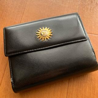ジャンニヴェルサーチ(Gianni Versace)のVersaceヴェルサーチ太陽モチーフヴィンテージ二つ折り財布ミニ財布(財布)