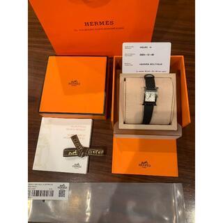 エルメス(Hermes)の新品HERMES エルメス 腕時計 Hウォッチ 黒 ベルト 木箱(腕時計)