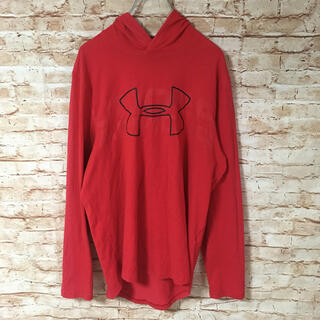 アンダーアーマー(UNDER ARMOUR)のアンダーアーマー メンズ トップス Tシャツ カットソー 長袖 ロゴ フード(Tシャツ/カットソー(七分/長袖))