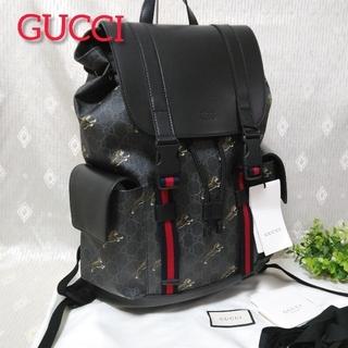 Gucci - 新品 GUCCI ソフト GGスプリーム キャンバス タイガー  バックパック
