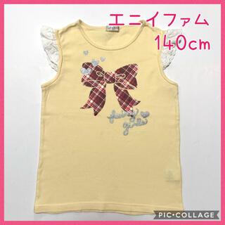 エニィファム(anyFAM)の☆anyFAM 袖口レース タンクトップ☆140cm(^^)(Tシャツ/カットソー)
