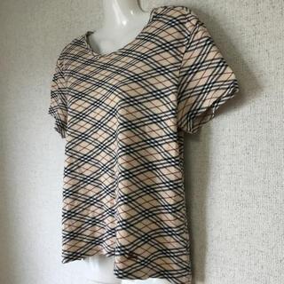 バーバリー(BURBERRY)のバーバリー ロンドン ノバチェック ロゴ刺繍 半袖 トップス Tシャツ M(Tシャツ(半袖/袖なし))