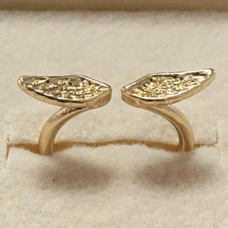 海外 金色 天使の羽 リング 10号(リング(指輪))