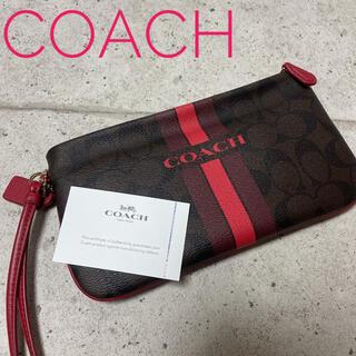 COACH - COACH コーチ ポーチ シグネチャー PVC 未使用品