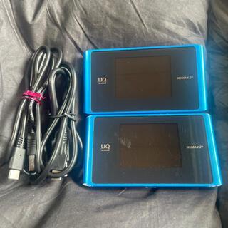エヌイーシー(NEC)のWiMAX2+ Speed Wi-Fi NEXT WX04 2台セット(PC周辺機器)