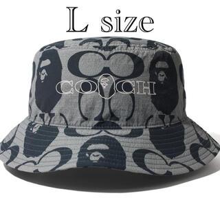 A BATHING APE - BAPE®️✖️COACH  BUCKET HAT size L