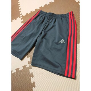 adidas - ☆AHP-296 アディダス ハーフパンツ 黒に近い紺&赤 サイズ L