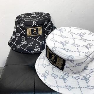 マークアンドロナ(MARK&LONA)の韓国【MARK&LONA】 スカル ハット メンズ レディース ゴルフ用品 帽子(サンバイザー)