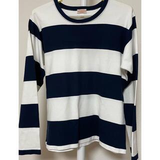 テンダーロイン(TENDERLOIN)のButcher products ネイビーワイドボーダーtee アットラスト(Tシャツ/カットソー(七分/長袖))