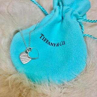 Tiffany & Co. - ティファニー ネックレス ダブルハート シルバー