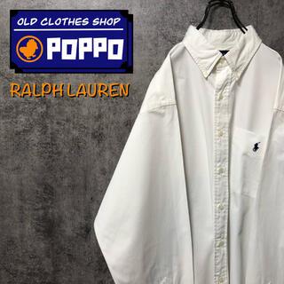 Ralph Lauren - ラルフローレン☆ワンポイント刺繍ロゴポケットビッグチノボタンダウンシャツ 90s