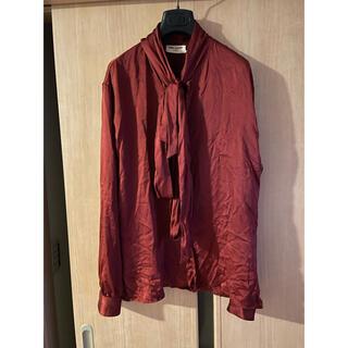 Saint Laurent - Saint Laurent 2020ss ribbon silk shirt