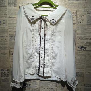 axes femme - axes femme アクシーズファム 長袖シャツ ドレスシャツ M