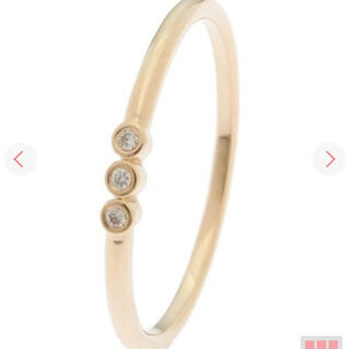 ココシュニック(COCOSHNIK)のココシュニックk10ベゼルセットダイヤモンドリング#10(リング(指輪))