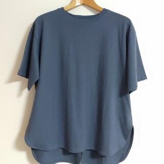 しまむら - 新品☆しまむら☆USAコットンバックボタンTシャツ♪中水色(ブルー)M