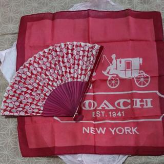 コーチ(COACH)の新品未使用  COACH  扇子&ハンカチセット (ハンカチ)