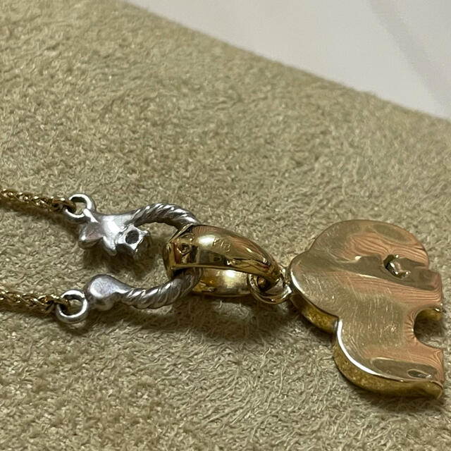 LION HEART(ライオンハート)のライオンハート ネックレス K18 ゾウ レディースのアクセサリー(ネックレス)の商品写真