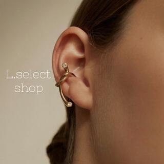 444.pipa ear cuff【gold】