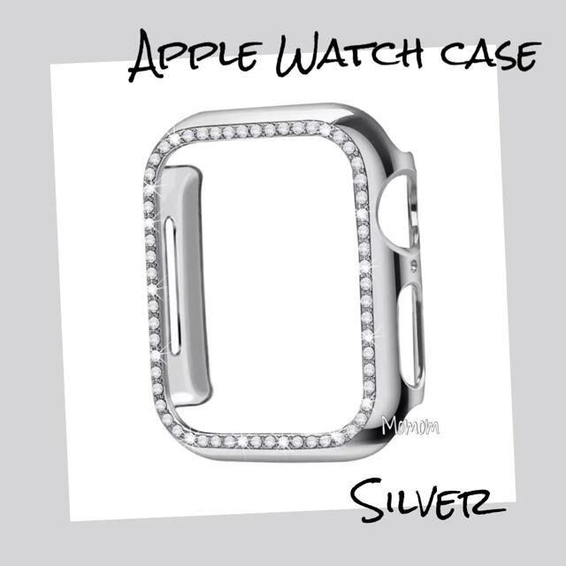 Apple Watch Case ストーン付き シルバー 40mm スマホ/家電/カメラのスマホアクセサリー(モバイルケース/カバー)の商品写真
