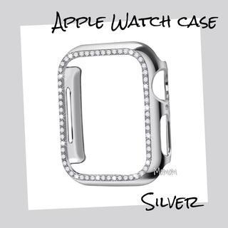 Apple Watch Case ストーン付き シルバー 40mm
