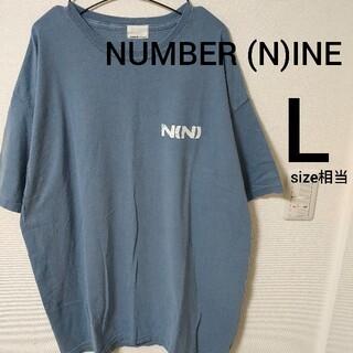ナンバーナイン(NUMBER (N)INE)のブルー NUMBER (N)INE カットソー 半袖Tシャツ メンズsize3(Tシャツ/カットソー(半袖/袖なし))