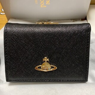 Vivienne Westwood - ヴィヴィアンウエストウッド 三つ折り財布 コンパクト 財布 がま口 黒 男性も☆