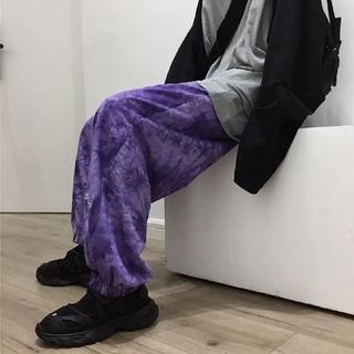 大人気☆ たいだい柄 スウェット パンツ ワイドパンツ ストリート ダンス 韓国