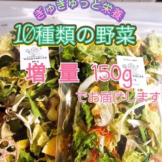 新鮮野菜 10種類の乾燥野菜MIX 簡単お手軽超便利! 75g×2袋 入り(野菜)
