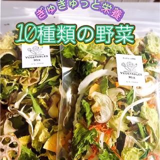 新鮮野菜 10種類の乾燥野菜おまかせMIX 50g×2袋 簡単お手軽超便利