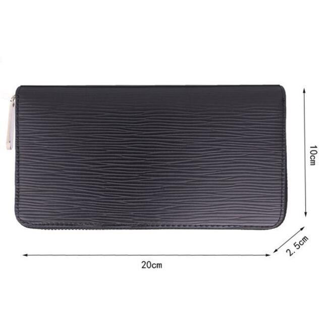 本革型押し エピ柄 ラウンドファスナー 長財布 ピアノブラック レディースのファッション小物(財布)の商品写真
