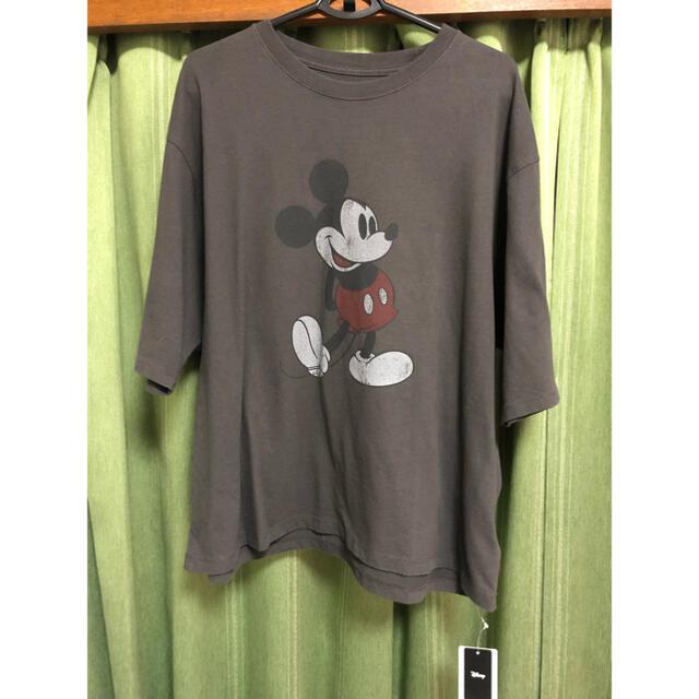 FRAMeWORK(フレームワーク)のてまねきぬな様専用 FRAMe WORK MICKEY BIG Tシャツ グレー レディースのトップス(Tシャツ(半袖/袖なし))の商品写真