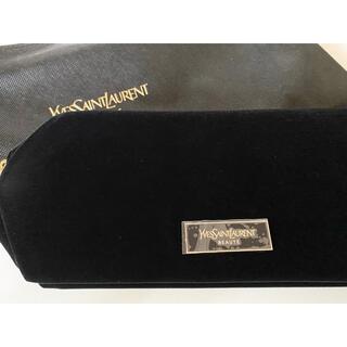 Yves Saint Laurent Beaute - 新品 ♡ ysl イヴサンローラン ポーチ ベルベット ブラック 限定