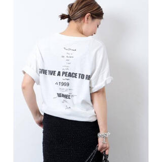 DEUXIEME CLASSE - ドゥーズィエムクラス LOVE A PEACE バックプリントTシャツ