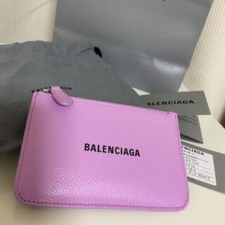 バレンシアガ(Balenciaga)の新作 バレンシアガ カードケース 財布 パープル 1回使用(コインケース/小銭入れ)