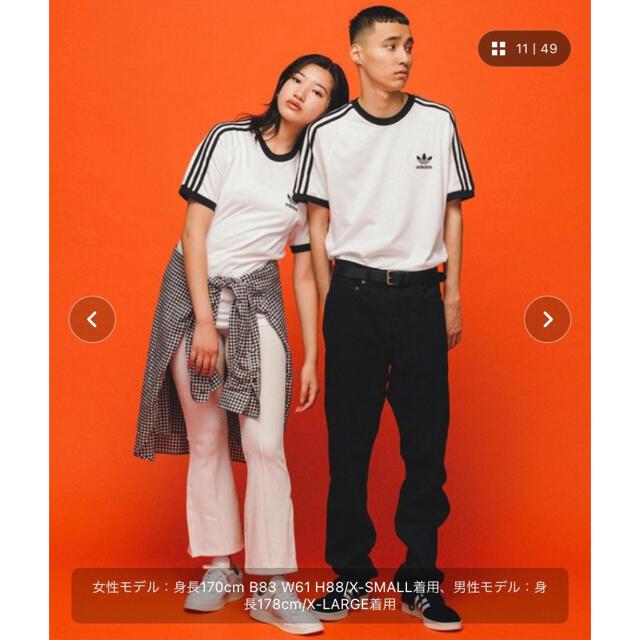 adidas(アディダス)のスリーストライプスTシャツ 3 STRIPES TEE アディダスオリジナルス メンズのトップス(Tシャツ/カットソー(半袖/袖なし))の商品写真