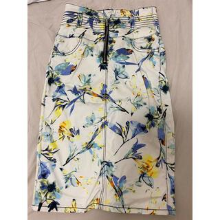 MURUA - MURUA オフホワイト ハイウエストスカート 花柄