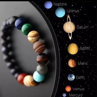 太陽系惑星ブレスレット 銀河 コスモビーズ ブレスレット パワーストーン(ブレスレット/バングル)
