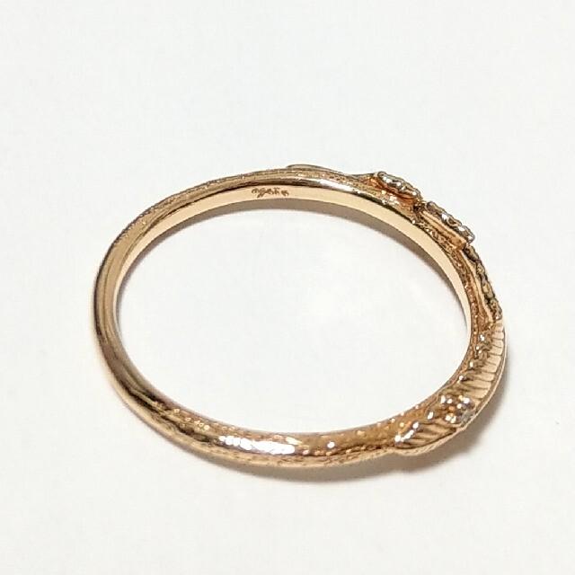 agete(アガット)の【美品】agete K10×ダイヤモンド フェザーリング #11 販売証明書つき レディースのアクセサリー(リング(指輪))の商品写真